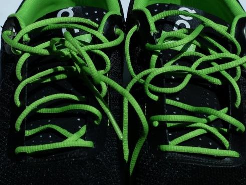 shoelaces lacing green