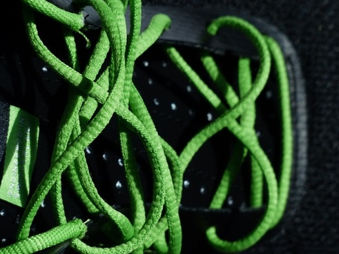 shoelaces lacing green
