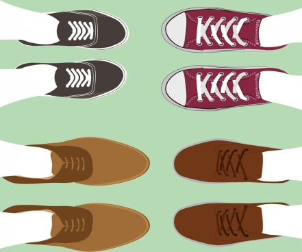 shoes fashion background modern young design