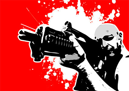 shooting people vector graphic