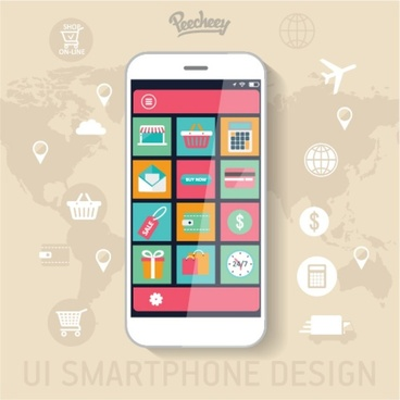 shopping application design for smartphone