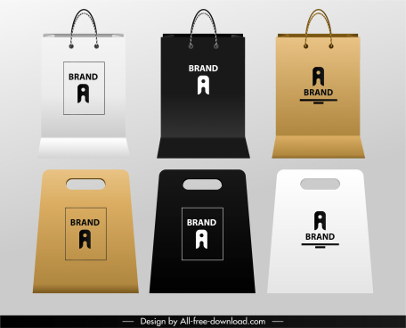 shopping bag templates elegant modern plain decor