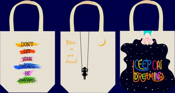 shopping bags templates dreams icons decoration