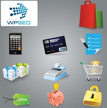 shopping category icon vector