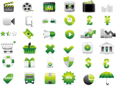 shopping decoration icon vector