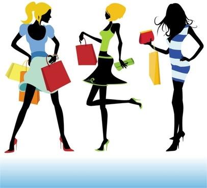 shopping girl 02 vector