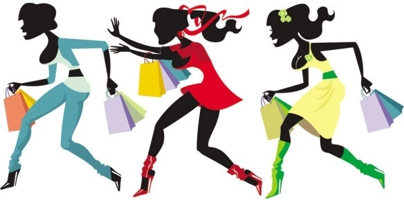 shopping girl 04 vector