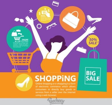 shopping promotion poster