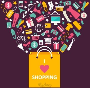 shopping spree illustration
