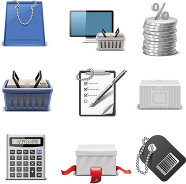 shopping theme icon vector