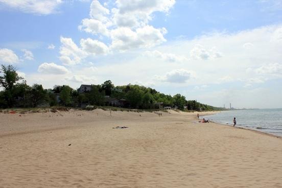 shores of michigan at indiana dunes national lakeshore indiana