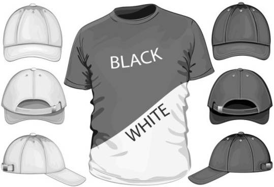 shortsleeve tshirt template 04 vector