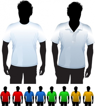 shortsleeve tshirt template vector