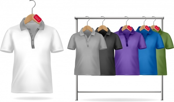 shortsleeve tshirt template vector