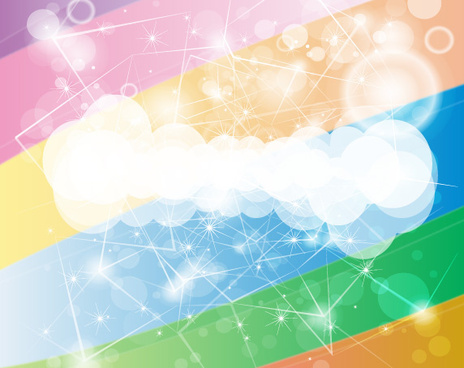 shoting rainbow design vector background