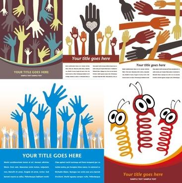 show of hands vector