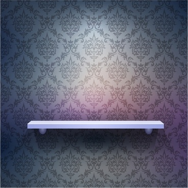 showing the effect of threedimensional exhibition wallpaper pattern vector