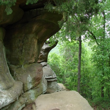 side view of rock formation