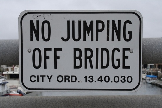 sign bridge parking