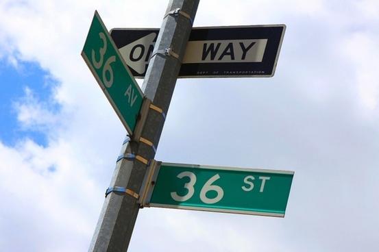 sign crossroads street