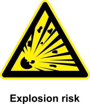 Sign Explosion Risk clip art