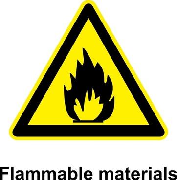 Sign Flammable Materials clip art