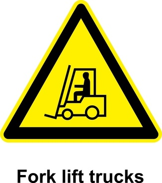 Sign Fork Lift Trucks clip art
