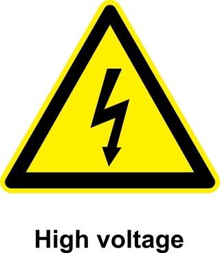 Sign High Voltage clip art