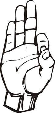 Sign Language F clip art