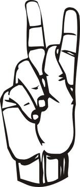 Sign Language K clip art