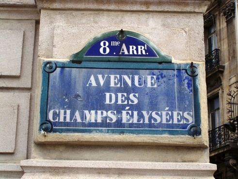 sign street paris