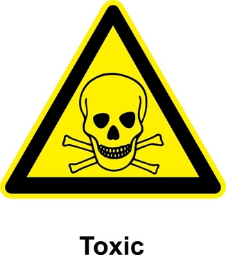 Sign Toxic clip art