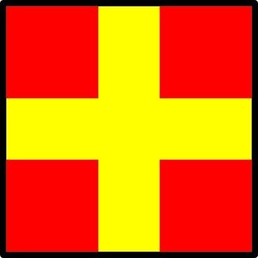 Signal Flag Romeo clip art