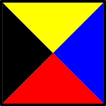 Signal Flag Zulu clip art