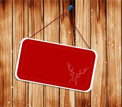 signboard template red chirstmas decoration reindeer silhouette