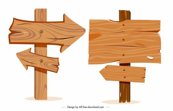signboard templates retro wood design