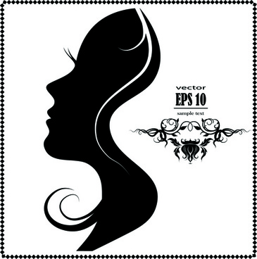 silhouette female face background