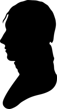 Silhouette of man facing left, no. 4