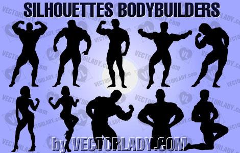 silhouettes bodybuilders
