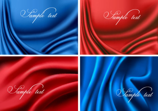 silk cloth elements background vector