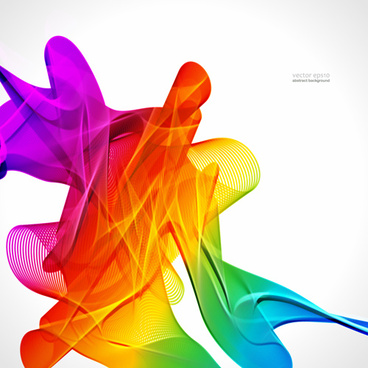 silk dynamic colorful background art vector