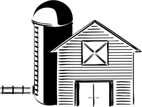 Silo Farming Grain Storage Tank clip art