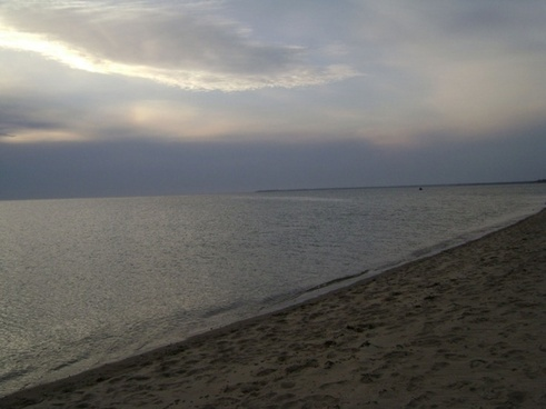 silver beach scene