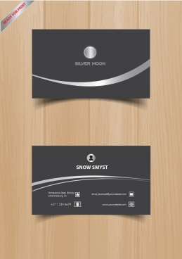 silver business cards ready to print business cards modern business cards
