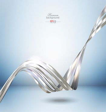 silver dynamic lines 3d background vector