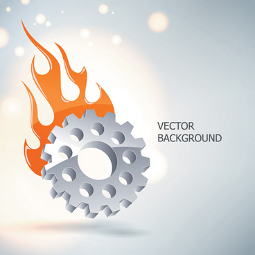 silver gear wheels vector background