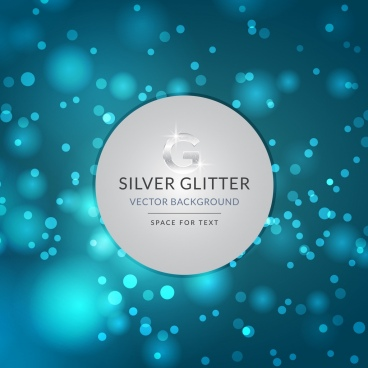 silver glitter background bokeh light decoration