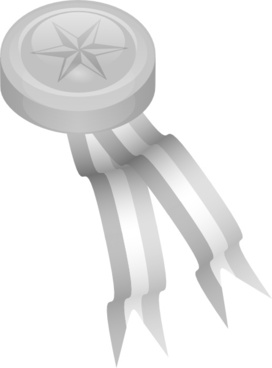 Silver Medallion clip art