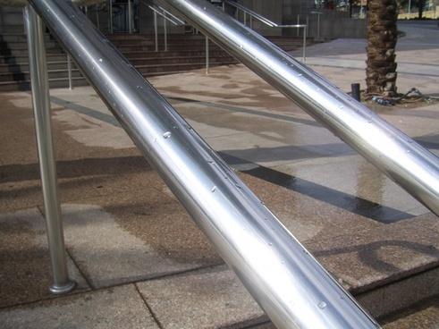 silver railings