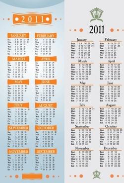 simple 2011 calendar template vector